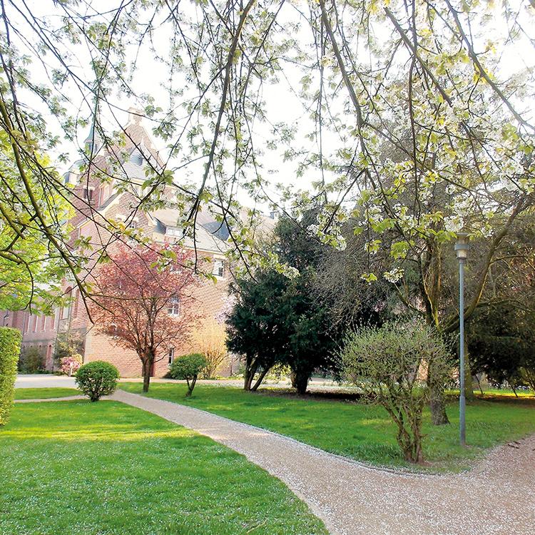 Angrenzender Park an die Residenz in Viersen